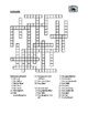 Famille (Family in French) Crossword puzzle