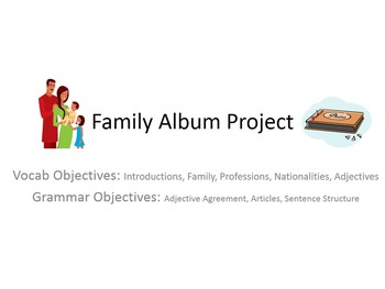 Family Album Vocab Project for French Students