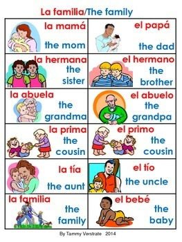 Family Bilingual Poster