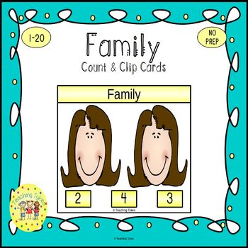 Family Count and Clip Task Cards