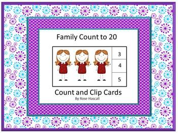 Family Unit Special Education or Kindergarten Math Centers