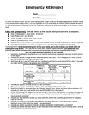 Family Emergency Kit Projcet
