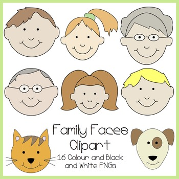 Family Faces Clipart
