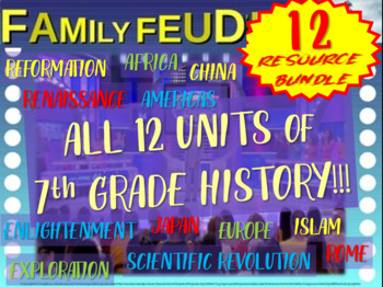 Family Feud! 12 interactive PPT games (for every unit of 7