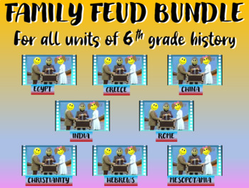 Family Feud! fun 6th Grade Ancient History review game: AL