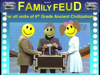 Family Feud! fun 6th Grade Ancient History review game: GR