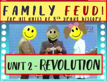 Family Feud! fun 8th Grade U.S. History review game: AMERI