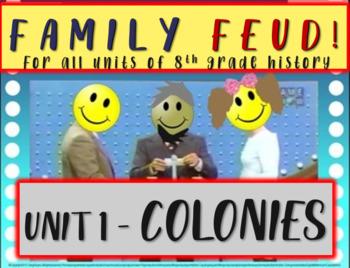 Family Feud! fun 8th Grade U.S. History review game: COLON