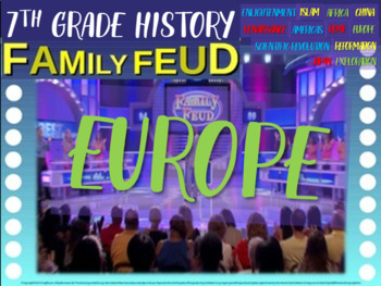 Family Feud! interactive PPT game for 7th grade history: M