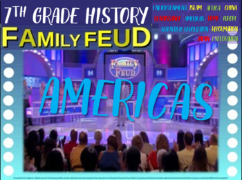Family Feud interactive game for 7th grade: Americas Versi