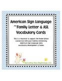 American Sign Language (ASL) ~Family Letter & ASL Vocabula