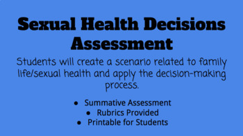 Family Life & Sexual Health Decisions Assessment