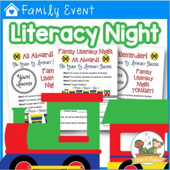 Family Literacy Night Kit {editable}