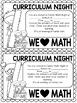 Family Math Night K-3 School Wide Event