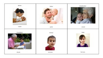 Family Memory Game (English and Spanish)