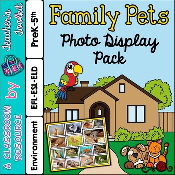 Family Pets Photo Poster Display Pack {UK Teaching Resource}
