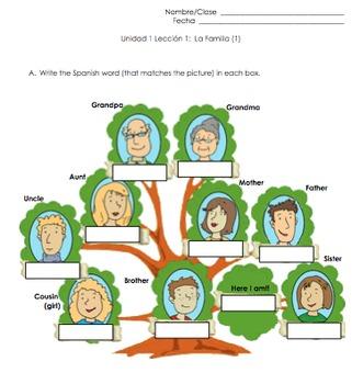 Family Spanish Vocabulary Practice