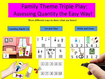 Family Theme Triple Play - Assessing Quantity the Easy Way free