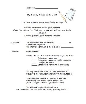 Family Timeline Project, Interview Project, Elementary Int