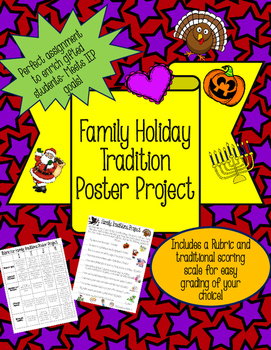 Family Traditions Poster Project- Rubric and Traditional S