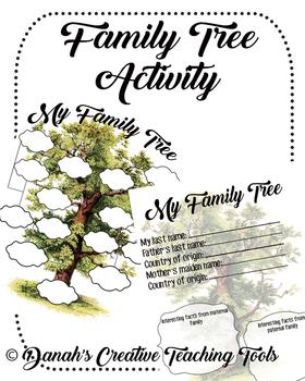 Family Tree Template Genealogy Activity