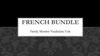 Family Vocabulary : Bundle of 12 items