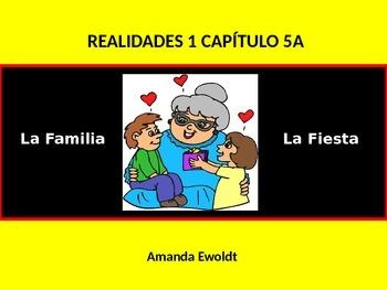 Family and Celebrations Vocabulary Readlidades 1 Ch 5A