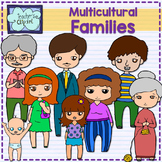 Family and adjectives clipart {Multicultural}
