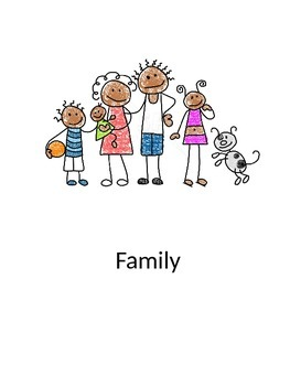 Family flashcards in English