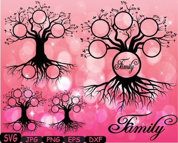 Family tree clip art Word Art Branche SVG  past Tree Deep