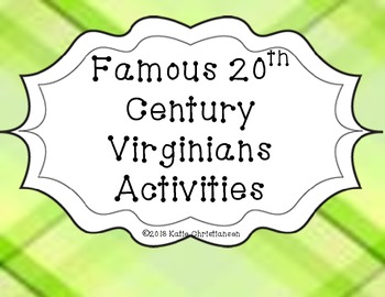 VS.9d Famous 20th Century Virginians Pack