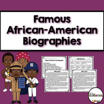 Famous African- American Biographies {Black History Month}