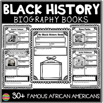 Famous African Americans Biography Sheets- Black History Month