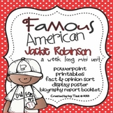 Jackie Robinson: Famous American Mini Unit {PowerPoint & P