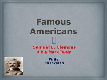 Famous American Writers - Mark Twain