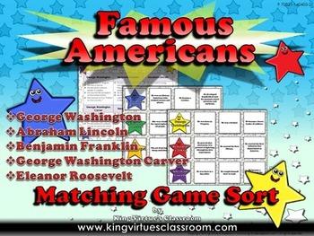 Famous Americans: Benjamin Franklin, George Washington Car