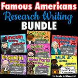 Famous Americans Research WRITING mini Unit BUNDLE for 1st
