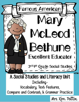 Famous Americans: Mary McLeod Bethune Activities & Interac