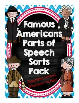 Famous Americans Parts of Speech Differentiated Sort Pack