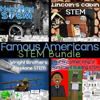 Famous Americans STEM Bundle