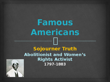 Political Movements & Events - Key Figures - Sojourner Truth
