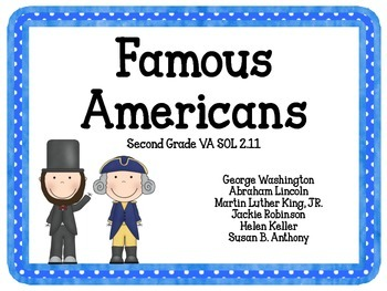 Famous Americans Task Cards