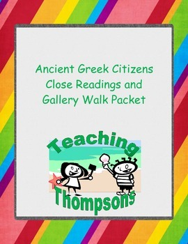 Famous Ancient Greek Citizens, Four Close Reading and Gall