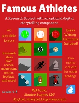Famous Athletes/Sports Stars Research Project + Digital St