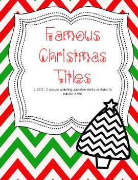 Famous Christmas Titles CCLS L.5.2