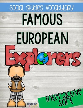 Famous Explorers Sort {Differentiated Interactive Notebook