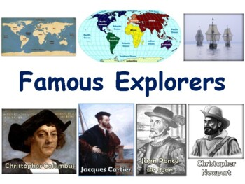Famous Explorers Lesson & Flashcards-task cards, study gui