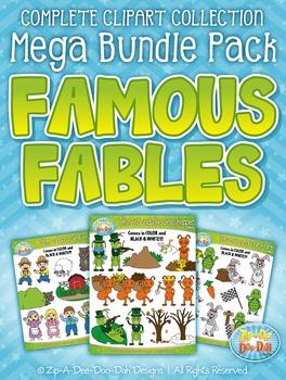 Famous Fables Clipart Mega Bundle Pack — Includes 10 Clipa