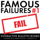 Famous Failures, Interactive Growth Mindset Bulletin Board, Grades 8-12