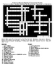 Famous Fictional Secret Agents Crossword & Word Search w/KEYS